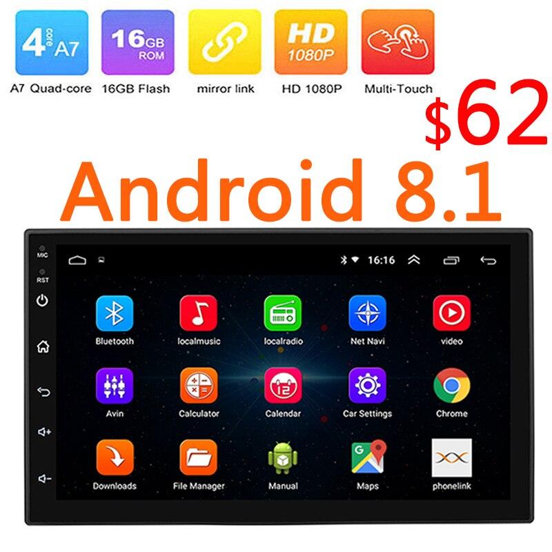 2Din Android 8.1 Auto Central Multimídia Player Double Din Din Autoradio GPS Wifi 2 7 Polegada MP5 Doble Rádio Do Carro BT FM USB 47