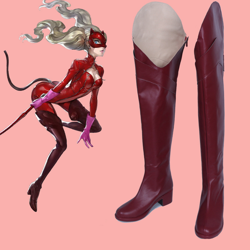 Game Persona 5 Cosplay Shoes Boots Anne Takamaki Panther Cosplay Shoes Halloween Party Cosplay Costumes Daily Leisure Shoes