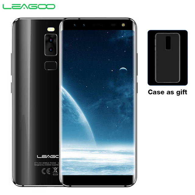 LEAGOO S8 Smartphone 5.72 HD+ IPS 1440*720 Screen Android 7.0 MTK6750 Octa Core 3GB+32GB Quad Cam Fingerprint 4G Mobile Phone