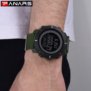 PANARS Sport Digital Watch Men Outdoor Sport LED Digital Waterproof Watch Wristwatch Mens Alarm Male Clock Relogio Masculino