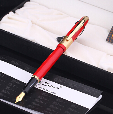 real red Picasso 923 Fountain Pen business gift pen free shipping school and office Writing Supplies send teacher student real picasso 901 fountain pen business gift caneta free shipping school and office writing supplies send teacher student