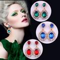 Bride Diaries Geometric Crystal Earrings For Women Trendy Jewelry Elegant Drop Earrings Bijoux Fashion