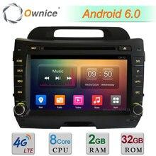 """Octa Core 2 GB RAM 32 GB ROM 8 """"4G WIFI Android 6.0 BT DAB de Radio Estéreo Reproductor de DVD Del Coche Para Kia Sportage R 2011-2015 GPS navegación"""