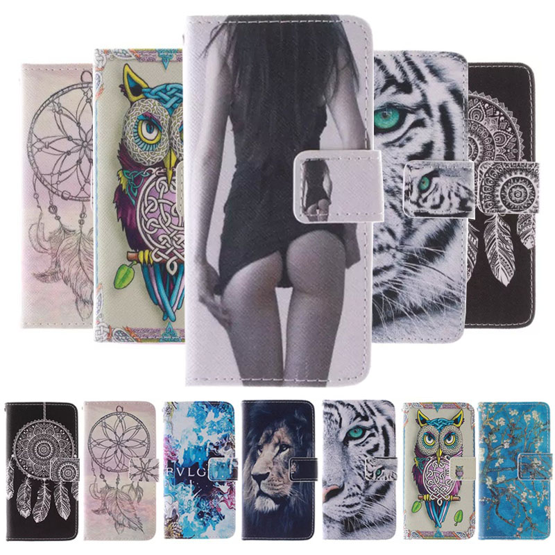 Fashion Dandelion And Mathematical formula Pattern PU Leather Case For LG K7 M1 Tribute 5.5 Inch Flip Cover Mobile Phone Cases