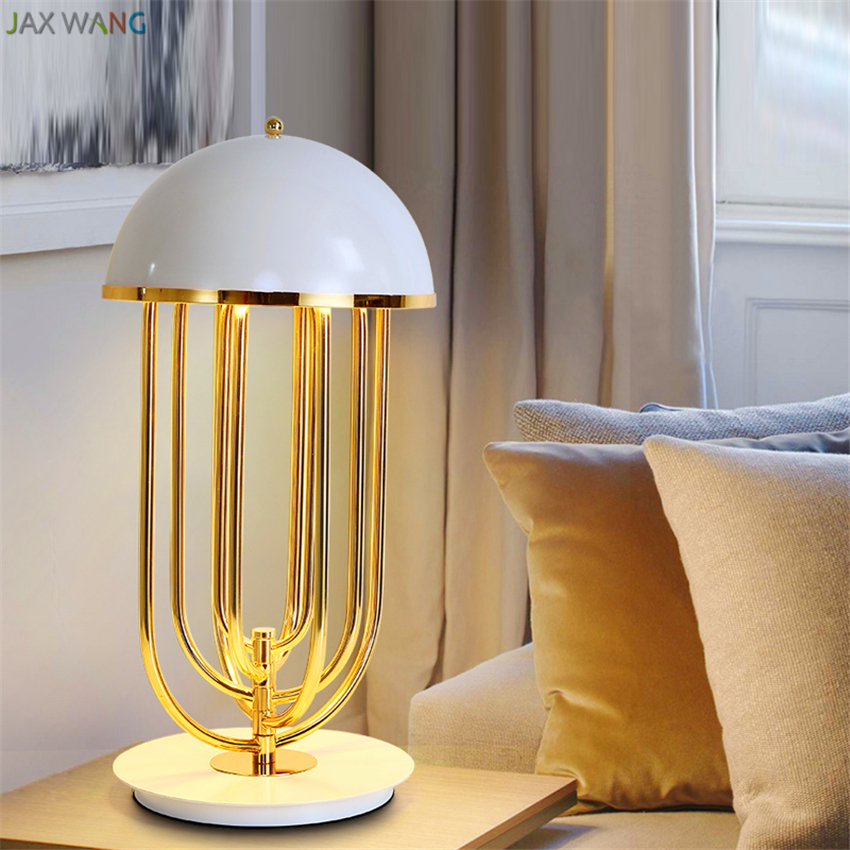 Нордическая креативная декоративная настольная лампа железная стерео лампа для гостиной, спальни ресторанная настольная лампа пост современные декоративные грибы лампа