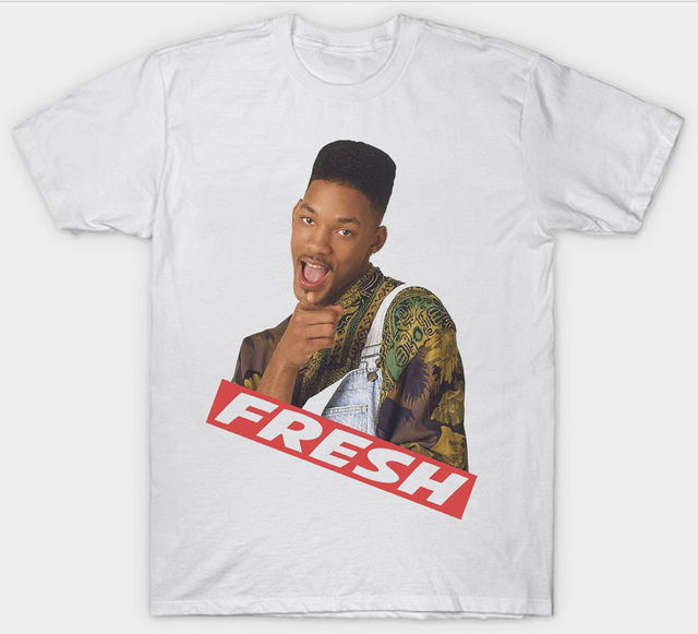 Fresh Prince Of Bel Air T Shirt Top Will Smith 90s 100 Cotton