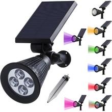 Solar Spotlight Lamp Waterproof IP65 Outdoor Lighting LED Solar Light Garden Lawn Lamp Landscape Wall Lights