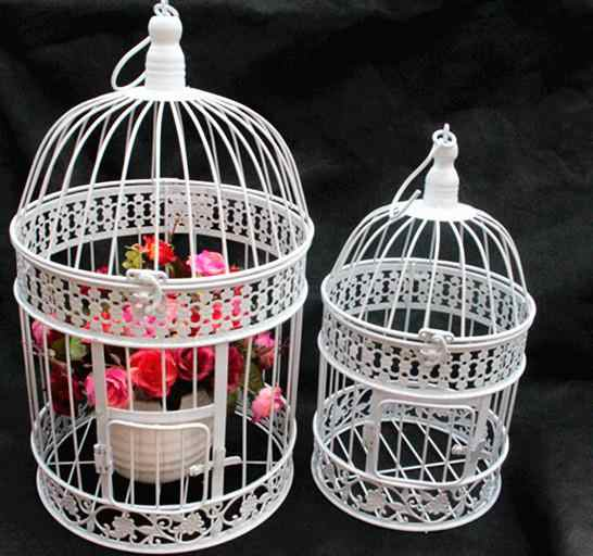 Fashion Iron Wrought Iron Birdcage Flower bird cage decoration hanging Wedding bird cage