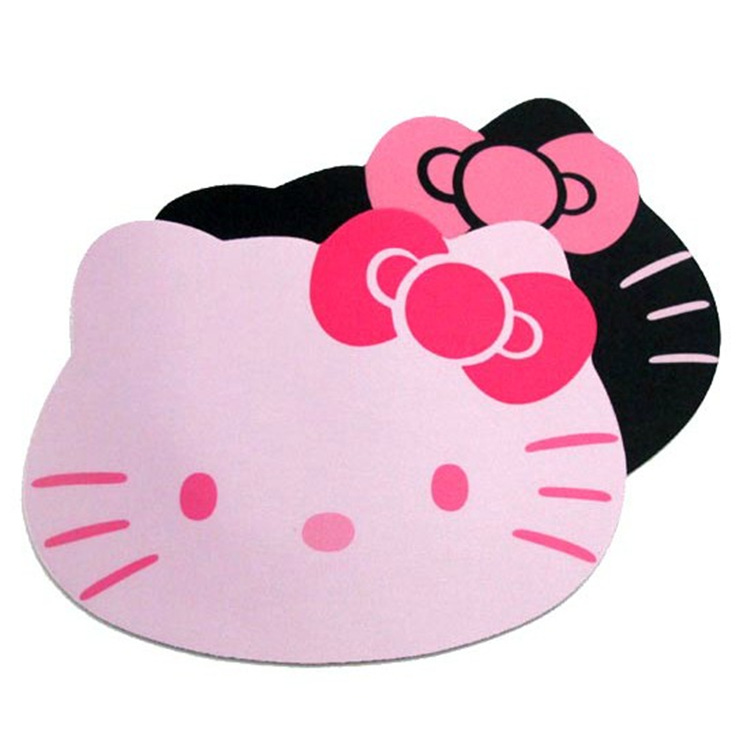 10pcs Cute cartoon KT Cat Mouse Mat Pink Hello Kitty Environmental Protection Silicone Mouse Pad Girls Cheap Gifts Promotion