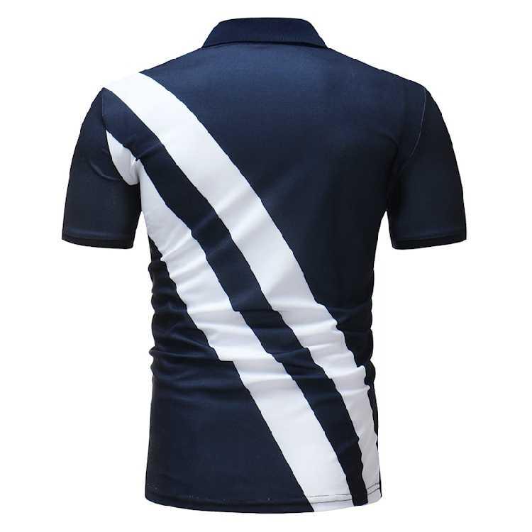 2018新しいファッションブランド男性ポロシャツカジュアルパッチワークカミーサポロmasculino男性半袖コットンシャツユニフォームポロシャツ