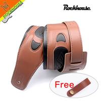 Electric Guitar Bass Straps Interlining With Thick Genuine Leather Widtn 8 5cm Soft Strong Durable Wholesale