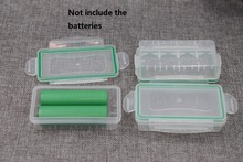20pcs/lot Waterproof 18650 Battery Storage Box Hard Plastic Protective Case 16340 Transparent Holder Organizer