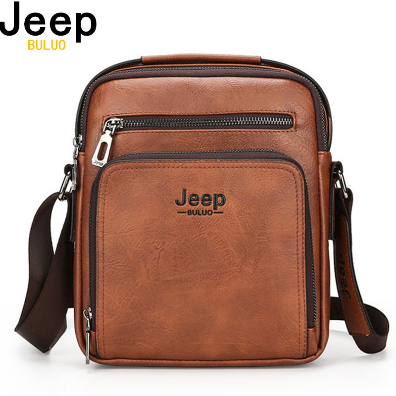 Jeep marca de cuero de hombre de negocios de alta calidad maletín bolso de hombre de cuero de vaca bolso mensajero bolsa hombres 6001