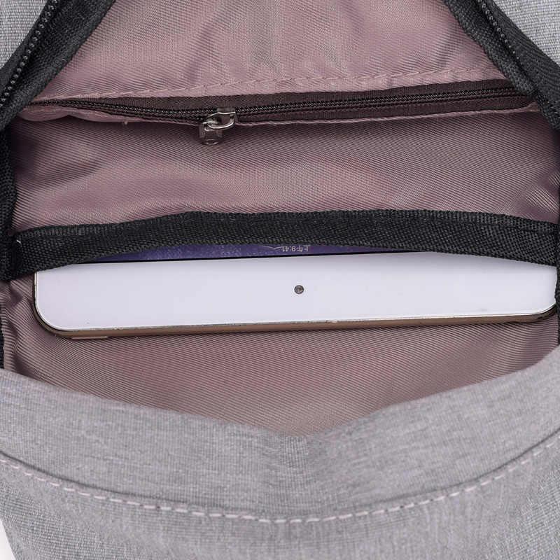 Homens Anti-roubo Peito Homens Mensageiro Ocasional Saco de Praia Carga USB Sling Bolsas de Ombro Crossbody Viagem Mochila Pequena Masculino Bolsa