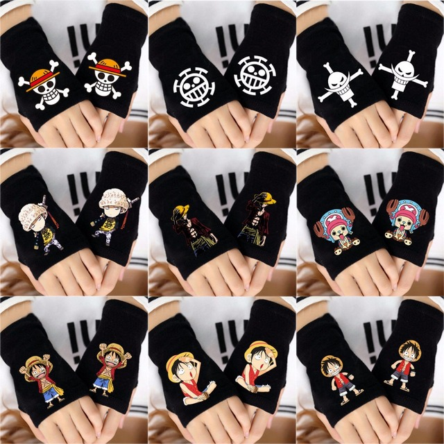 One Piece Naruto Attack On Titan Dragon Ball Fingerless Glove