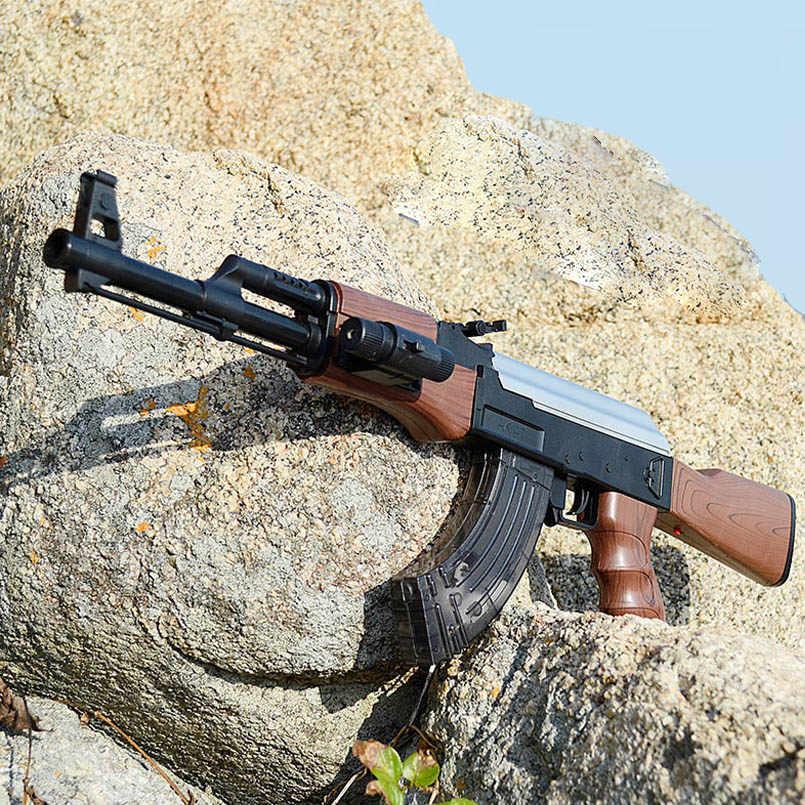 AK47 Электрический всплески игрушечный водный пистолет пулевой пистолет для мальчиков винтовка пистолет на открытом воздухе в прямом эфире игра CS ручной винтовка игрушки для детей, подарки