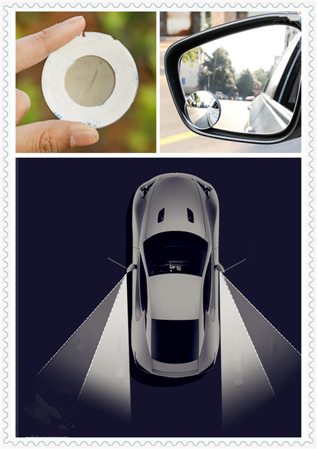 Car Rear View Wide Angle Lens Isted Blind Spot Mirror For Toyota 4runner Sienna Sequoia Prius Gr Camry I Tril