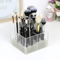 2018 Aila New Organize Makeup Brushes Container Acrylic Storage Box Clear Cosmetic Organizer