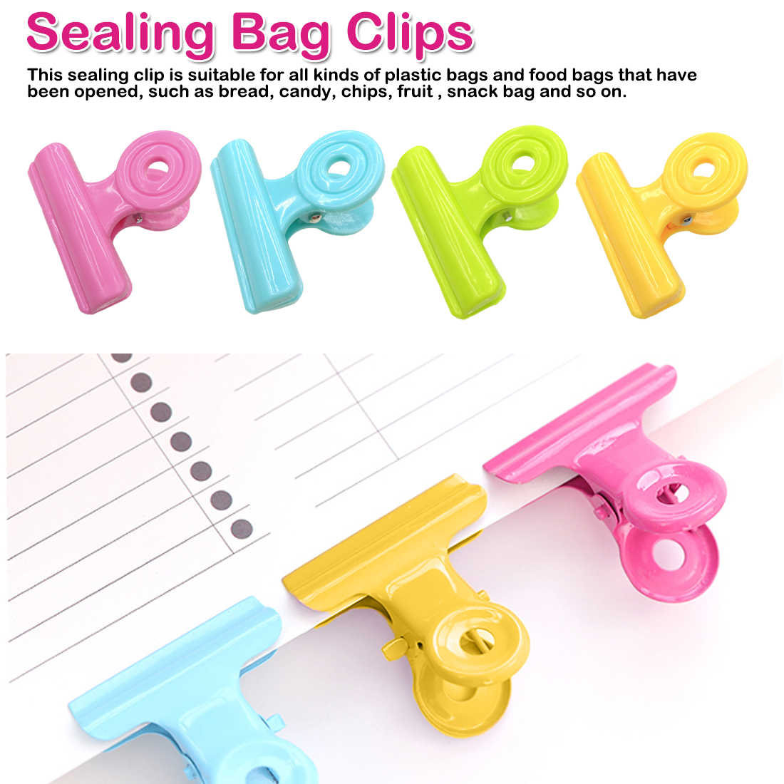 5Pcs Plastic Chip Bag Clips For Air Tight Seal Grip Food Sealing Clamp Clip Powder Food Package Bag Clip
