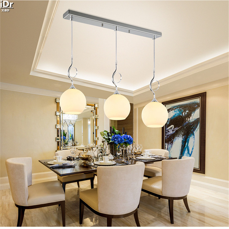 Aluminum modern minimalist living room lights restaurant lights bar lamp lamp creative three meals  Pendant Lights  Rmy-0239 high quality led modern minimalist crystal pendant lamp light luxury living room bedroom art creative restaurant hanging lights