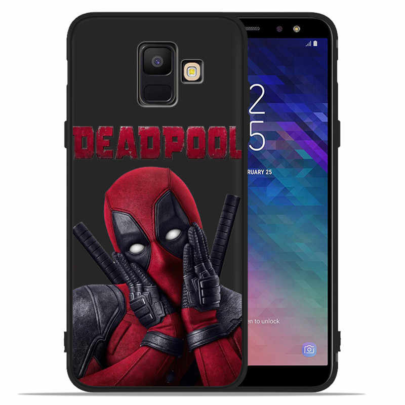 Marvel Avenger Deadpool DIY สำหรับ Samsung Galaxy A9 A8 A7 A6 A5 A3 J3 J4 J5 J6 J8 Plus 2017 2018 โทรศัพท์ Coque Etui funda