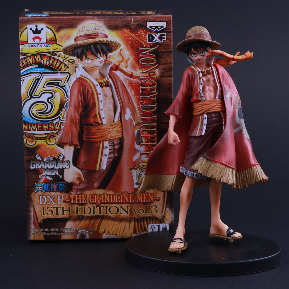 Popular Banpresto Craneking DXF 15th Anniversary Edition The Grandline Men Japan Anime <font><b>One</b></font> <font><b>Piece</b></font> <font><b>Luffy</b></font> Action Figure Figurine image