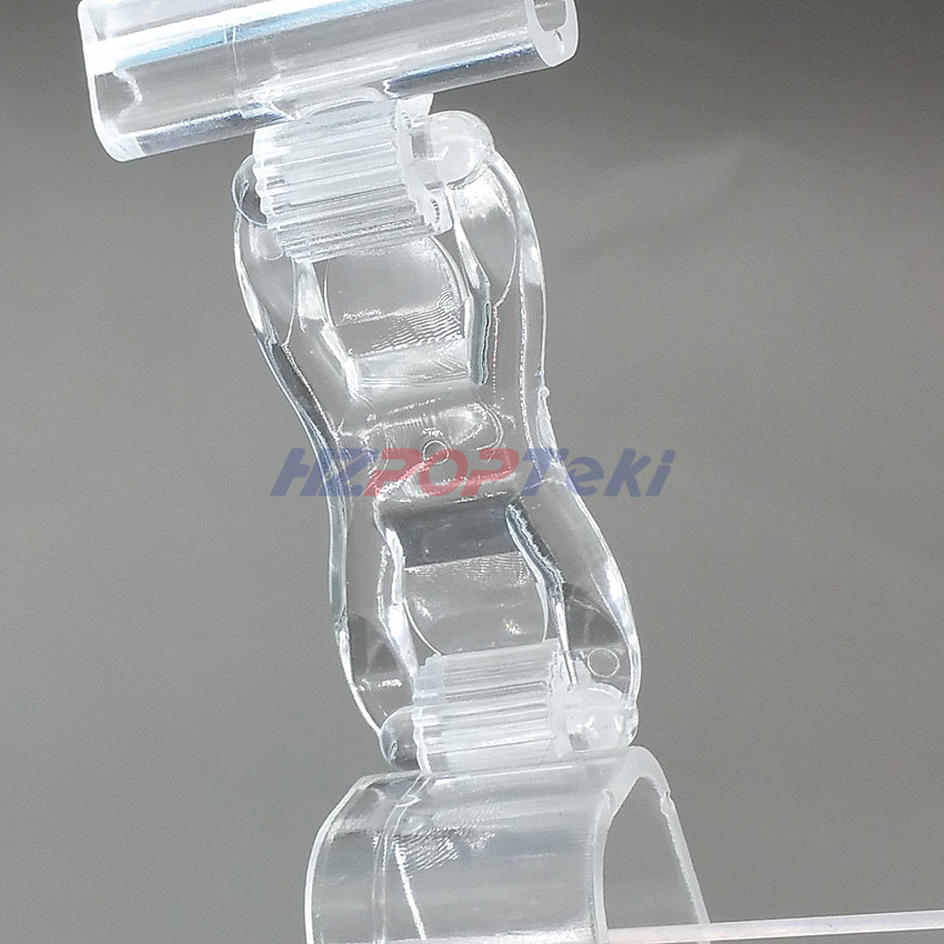 Clips Symbol Of The Brand Plastic Clear Pc Pop Paper Price Label Sales Card Display Show Clamp Clip Holders For Seafood Area Glass Promotions 1000pcs
