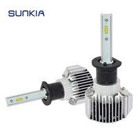 2pcs Set SUNKIA 72w 8000LM V1 Car LED Headlight H1 Car Styling 11 30V DC Xenon