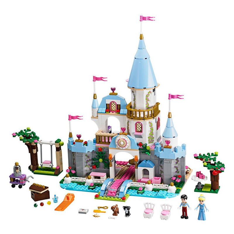 SY325 79279 Cinderella Princess Romantic Castle Model Building Kits Figure Girl Friend Blocks Bricks Toy Compatible Lepin lepin 16008 4160pcs cinderella princess castle city model building block kid educational toys for gift compatible legoed 71040