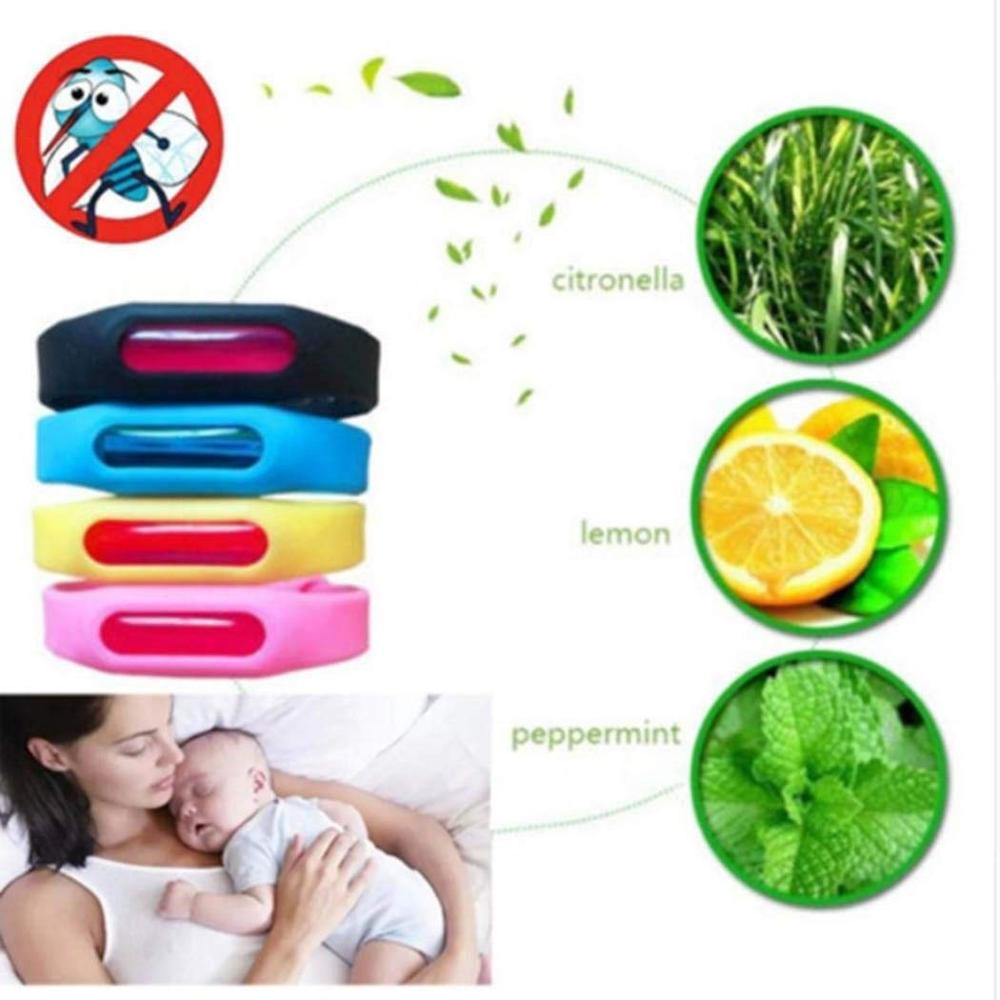 Image 5 - Colorful Mosquito Repellent Bracelet Summer Silicone Anti mosquito Capsule Anti insect Insect Repellent Belt Child Safety Belt-in Repellents from Home & Garden
