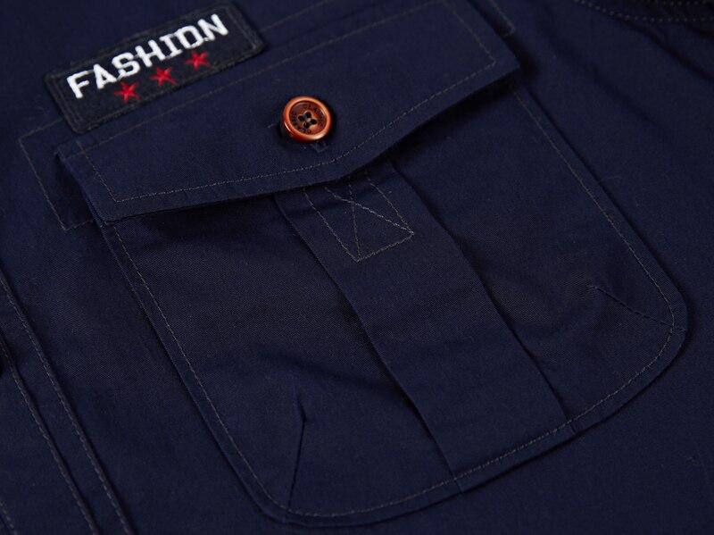 Summer Mens Shirts Casaul Cotton Short Sleeve Shirts Men Brand Clothing Military Male Shirts Social Slim Fit M-XXXL