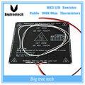 Peças de impressora reprap 3d pcb alu-heatbed mk3 + led + resistor + cabo + 100 k ohm termistores diâmetro como mk2b