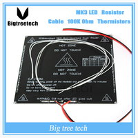 RepRap 3D Printer Parts PCB MK3 Heatbed LED Resistor Cable 100K Ohm Thermistors Aluminum Heated Bed