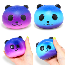 лучшая цена Cute Colorful Panda Squishy Slow Rising Scented Soft PU Squeeze Toy Phone Straps Original Package