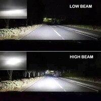 led white car 2pcs 55W Car LED Headlight Lamp H4/H7 Kit 6000K White Bulb High/Low Beam LED Headlights For Car, Automotive (4)