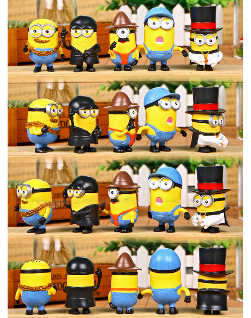 Minion Miniature Figurines Toys 10 Piece Set