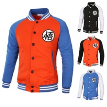 Anime Dragon Ball Z Cartoon Baseball Uniform Son Goku Casual Coat Sweatshirts Super Cardigan Jacket