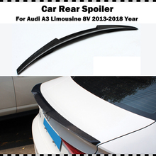 цена на Carbon fiber rear trunk spoiler for Audi A3 Limousine sedan M4 style for a3 8v 2014-2018 rear spoiler wing