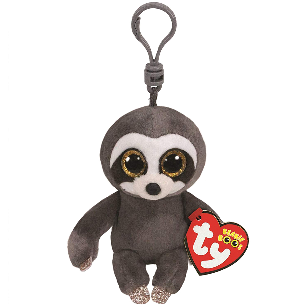 c196e8a608c Detail Feedback Questions about Ty Beanie Boos 4   9cm Dangler the Sloth  Clip Keychain Plush Big eyed Stuffed Animal Collectible Doll Toy with Heart  Tag on ...