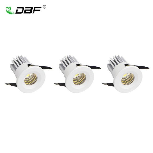 3 stks/partij Verzonken Plafondlamp Kabinet Downlight 3 W Mini LED Kast Spot Warm Wit/Wit AC110V/220 V Binnenverlichting