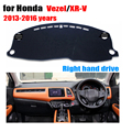 Car dashboard covers For Honda Vezel XR-V 2013-2016 Right hand drives dashboard mat dashmat car Instrument platform accessories