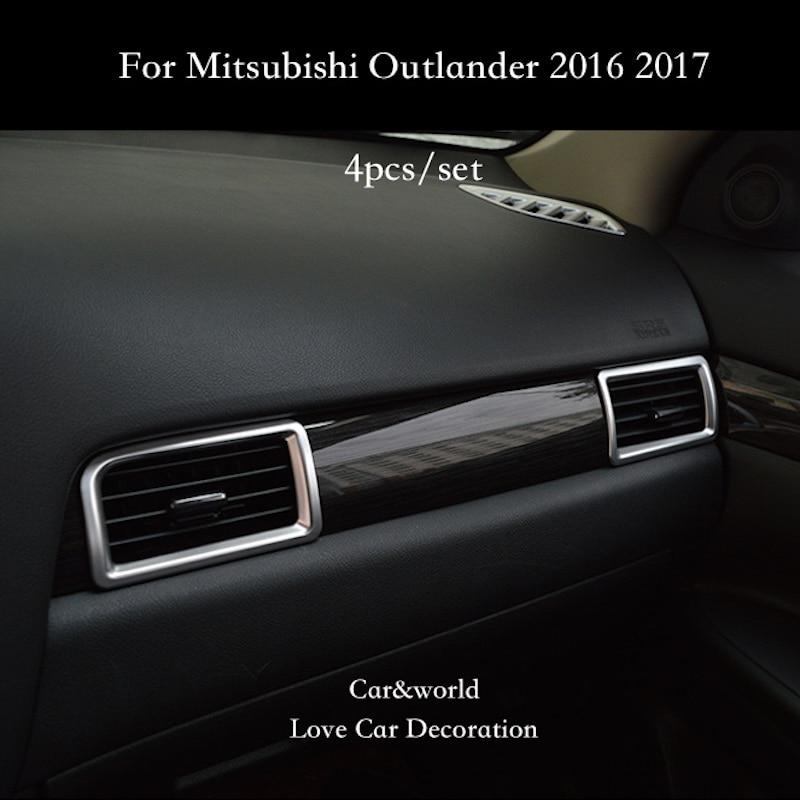 Автостайлинг, аксессуары для Mitsubishi Outlander 2016-2019, консоль, выход кондиционера, крышка, отделка, отделка интерьера автомобиля