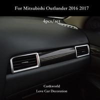 Auto Styling Zubehör Für Mitsubishi Outlander 2016 2019 Konsole Klimaanlage steckdose abdeckung Trim Auto Innen Dekoration-in Chrom-Styling aus Kraftfahrzeuge und Motorräder bei