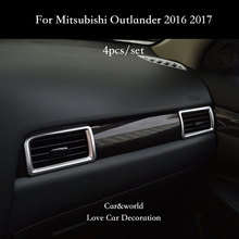 Car-Styling Accessories For Mitsubishi Outlander 2016 2017 Air Conditioning outlet cover Trim Auto Interior Decoration цена в Москве и Питере