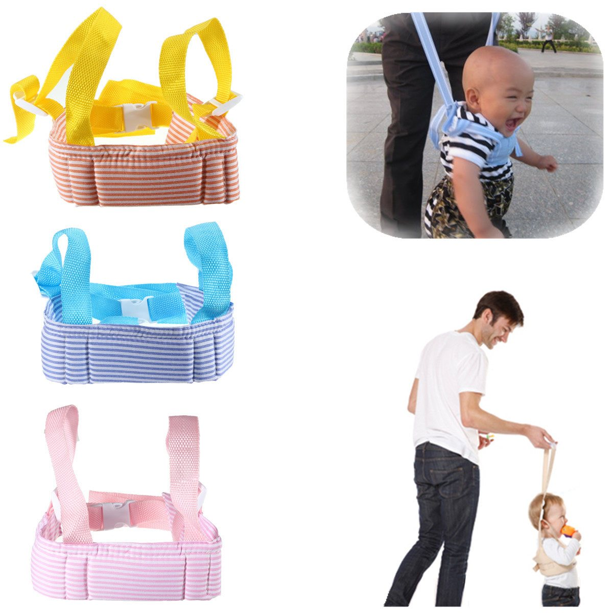 Portable Baby Toddler Walking Assistant Learning Walk Safety Reins Walker Wings Baby Kids Keeper Toddler Walking Safety Harness best selling fashion printed baby walker assistant toddler baby walking belt safety harness leash infant baby walker