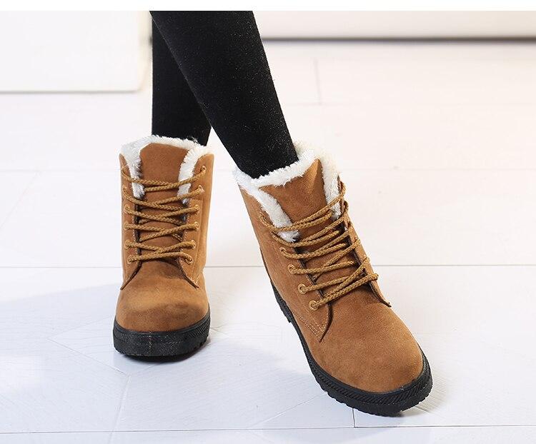 Women's High Heels Plush Winter Boots 13