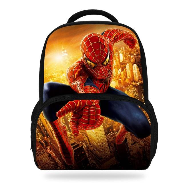 14Inch Super Hero Bag For Children Spiderman Backpack For Kids School Boys  Girls c46ff145838c1