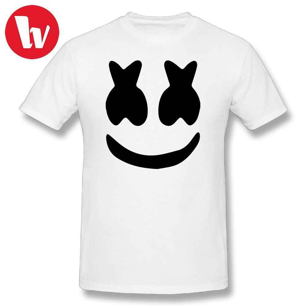 88751b8716c Marshmello Face T-Shirt Men Print Basic Music Tee Shirt 100 Cotton T Shirts  Men