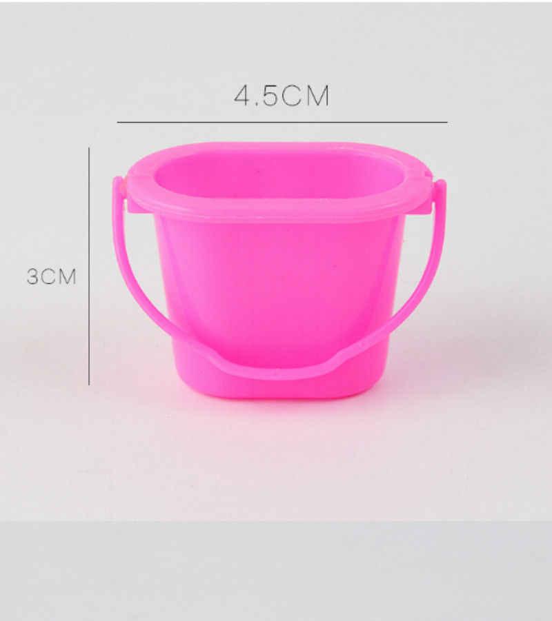 Toyzhijia 4 pçs/set bonito kit de limpeza para barbie boneca casa mobiliário mobiliário conjunto cor aleatória