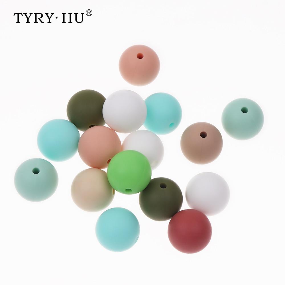 TYRY, HU 100db Silicone gyöngyök nyakláncba Baby Chews - Babaápolási